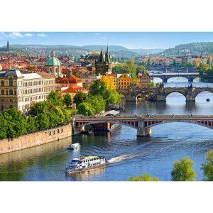 Castorland - Гледка към мостовете в Прага - 500 части - картина