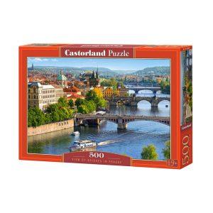 Castorland - Гледка към мостовете в Прага - 500 части - кутия
