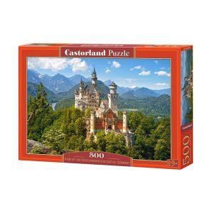 Castorland - Изглед към замъка Нойшвайнщайн, Германия - 500 части - кутия