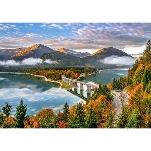 Castorland - Изгрев над езерото Силвенщайн, Германия - 500 части - картина