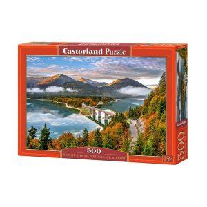 Castorland - Изгрев над езерото Силвенщайн, Германия - 500 части - кутия