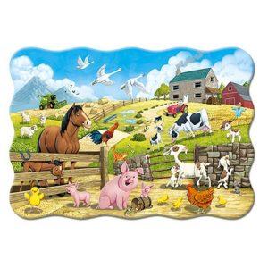 Castorland - Животни във фермата - 20 XXL части - картина
