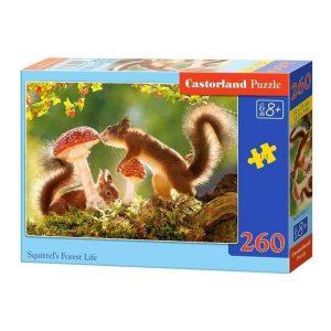 Castorland - Животът на катеричките - 260 части - кутия