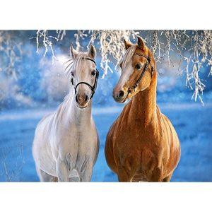 Castorland - Коне през зимата - 260 части - картина
