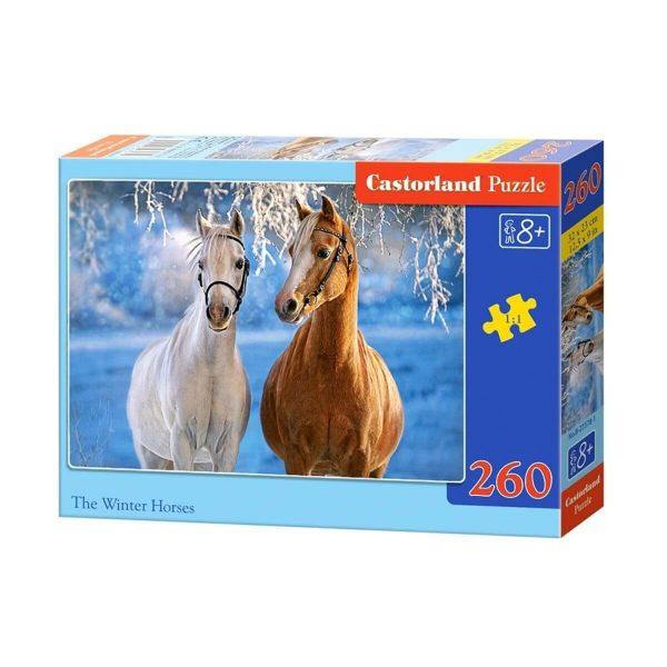 Castorland - Коне през зимата - 260 части - кутия