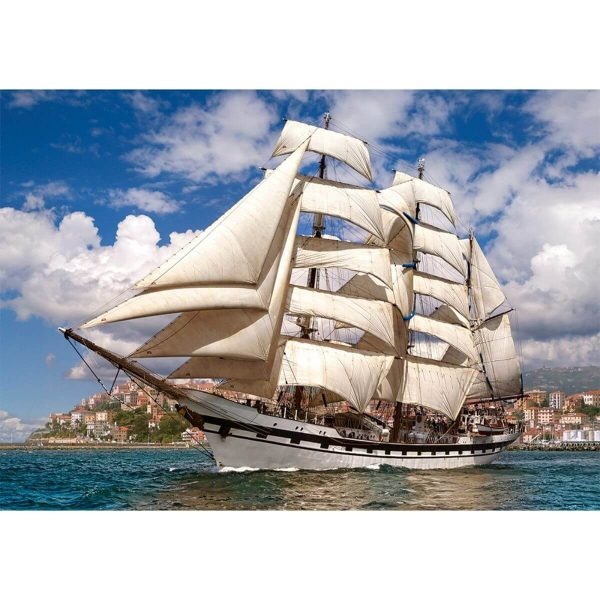 Castorland - Кораб, напускащ пристанището - 500 части - картина