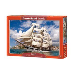 Castorland - Кораб, напускащ пристанището - 500 части - кутия