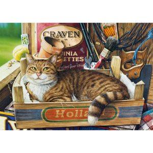 Castorland - Коте в щайга - 500 части - картина
