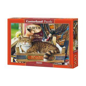 Castorland - Коте в щайга - 500 части - кутия