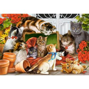 Castorland - Котешки игри - 1500 части - картина