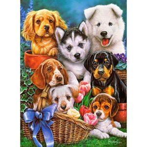 Castorland - Кученца - 300 части - картина
