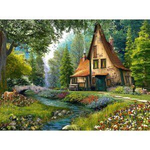Castorland - Къща в гората - 2000 части - картина
