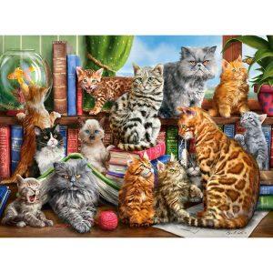 Castorland - Къщата на котетата - 2000 части - картина