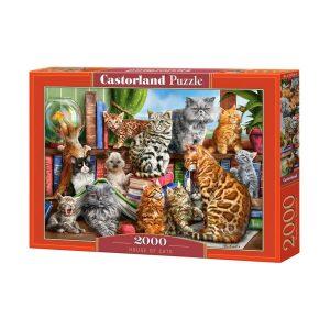 Castorland - Къщата на котетата - 2000 части - кутия