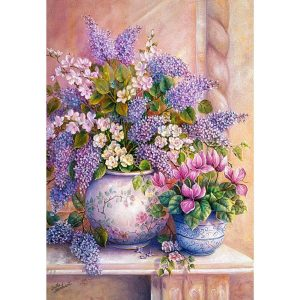 Castorland - Люлякови цветове - 1500 части - картина