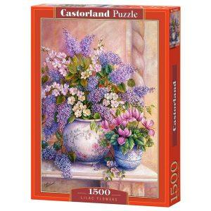 Castorland - Люлякови цветове - 1500 части - кутия