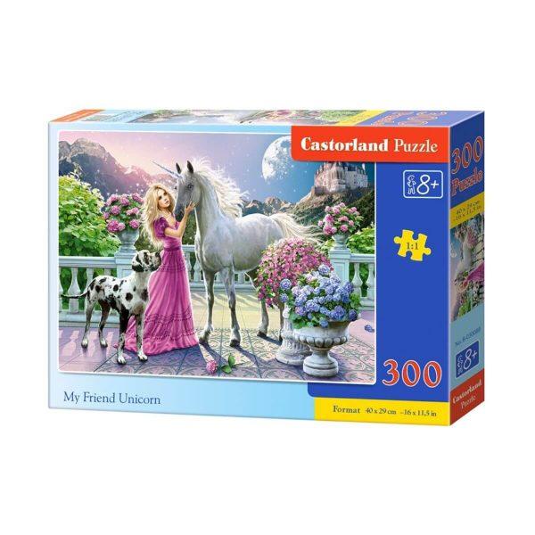 Castorland - Моят приятел еднорог - 300 части - кутия