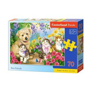 Castorland - Най-добри приятели - 70 части - кутия