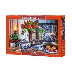Castorland - Натюрморт с лалета - 1500 части - кутия