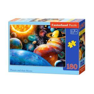 Castorland - Планетите и техните луни - 180 части - кутия