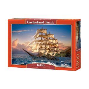 Castorland - Плавайки по залез слънце - 1500 части - кутия