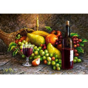 Castorland - Плодове и вино - 1000 части - картина