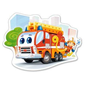 Castorland - Пожарен камион - 12 XXL части - картина