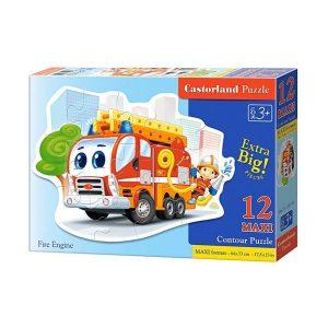 Castorland - Пожарен камион - 12 XXL части - кутия