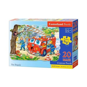 Castorland - Пожарна бригада - 20 XXL части - кутия
