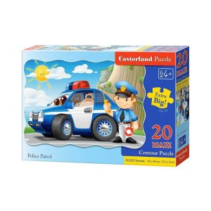 Castorland - Полицейски патрул - 20 XXL части - кутия