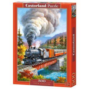 Castorland - Преминаващ влак - 500 части - кутия