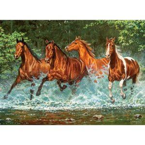 Castorland - Препускащи коне - 300 части - картина