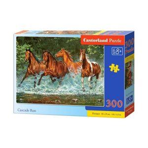 Castorland - Препускащи коне - 300 части - кутия