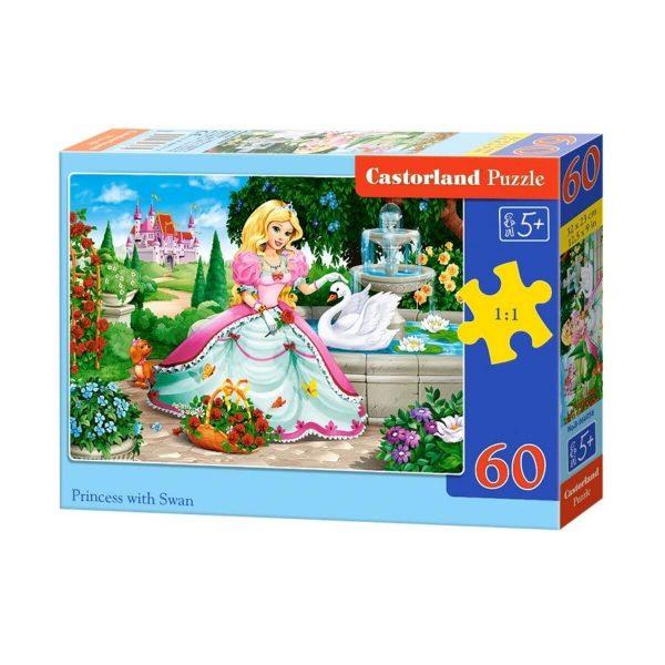 Castorland - Принцесата и лебеда - 60 части - кутия