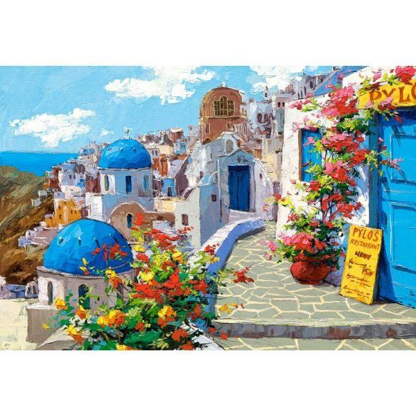 Castorland - Пролет в Санторини - 2000 части - картина