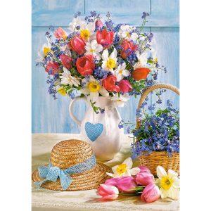 Castorland - Пролет във ваза - 500 части - картина