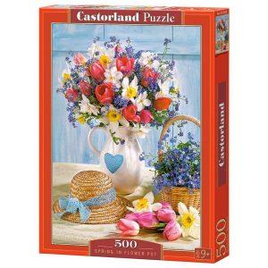 Castorland - Пролет във ваза - 500 части - кутия