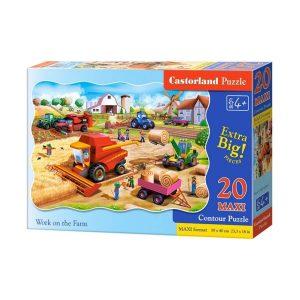 Castorland - Работа във фермата - 20 XXL части - кутия