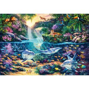 Castorland - Рай в джунглата - 1500 части - картина