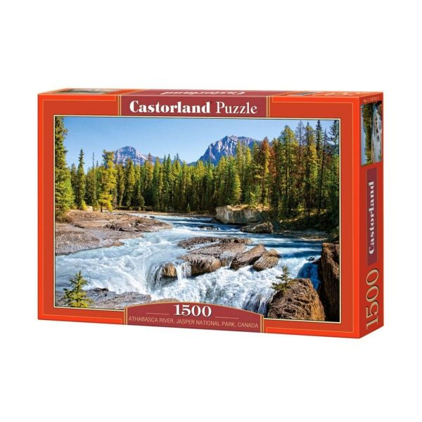 Castorland - Река Атабаска, Национален парк Джаспър, Канада - 1500 части - кутия