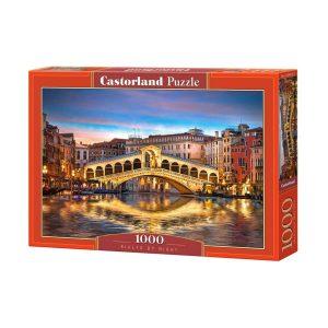 Castorland - Риалто през нощта - 1000 части - кутия
