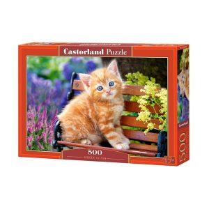 Castorland - Рижаво коте - 500 части - кутия
