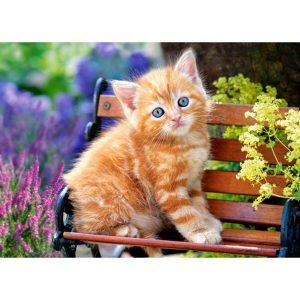 Castorland - Рижаво котенце - 180 части - картина