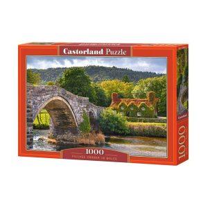 Castorland - Селски чар в Уелс - 1000 части - кутия