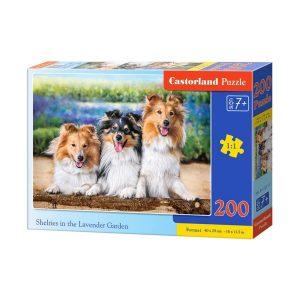 Castorland - Шелти в лавандуловата градина - 200 части - кутия