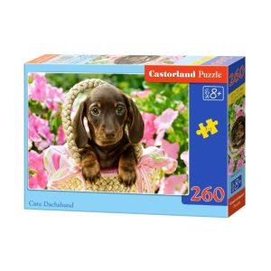 Castorland - Сладък дакел - 260 части - кутия