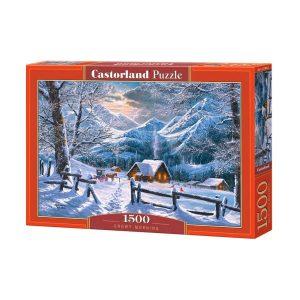 Castorland - Снежно утро - 1500 части - кутия