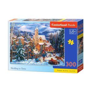 Castorland - Спускане с шейна към града - 300 части - кутия