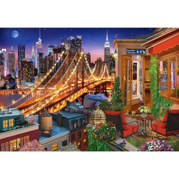 Castorland - Светлините на Бруклинския мост - 1000 части - картина