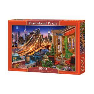 Castorland - Светлините на Бруклинския мост - 1000 части - кутия
